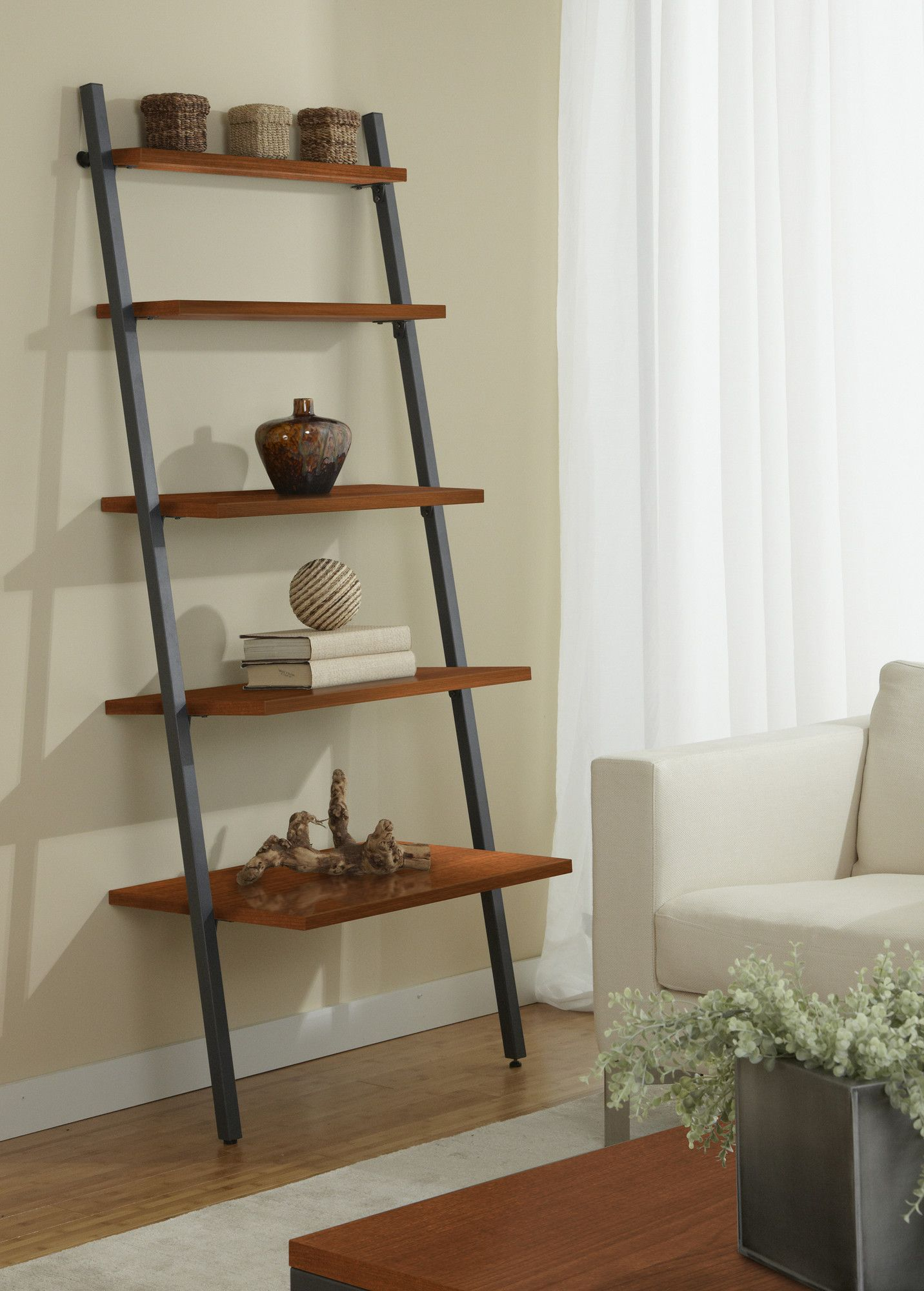 Parson 71 Leaning Bookcase