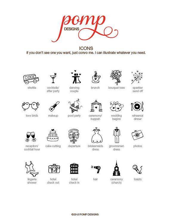 Wedding Timeline Printable Digital File Schedule by pompcreative - wedding agenda