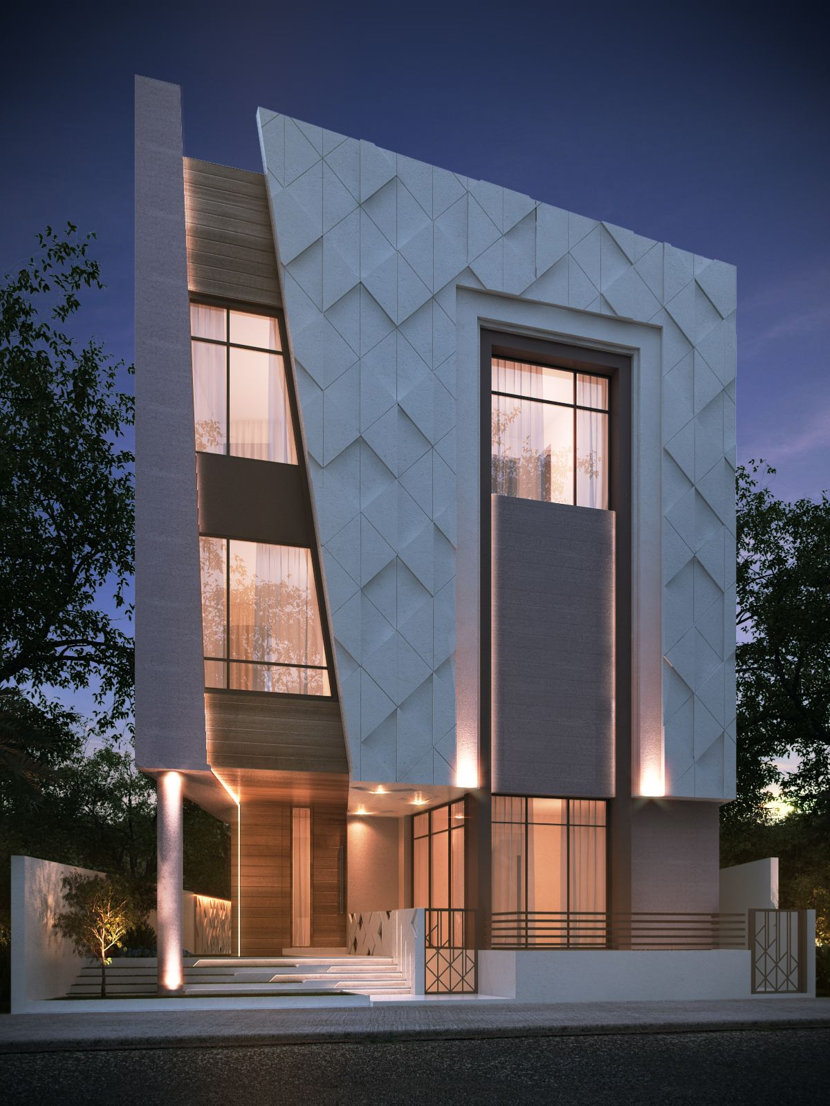 Private villa 400 m kuwait by sarah sadeq architects for Exterieur villa design