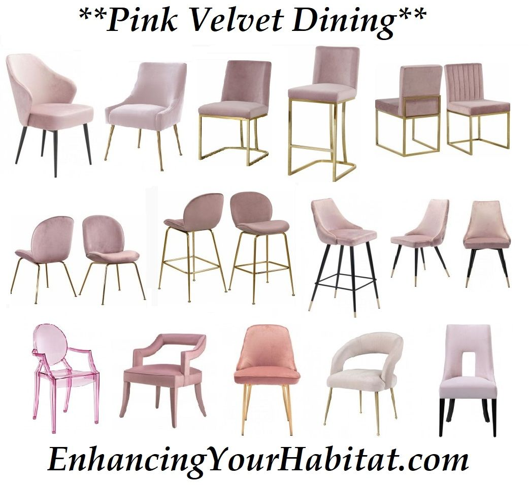 Pink Velvet Dining Chairs Mid Century Dining Chair Pink Velvet Counter Stool Pink Velvet Velvet Dining Chairs Mid Century Style Dining Chairs Pink Home Offices