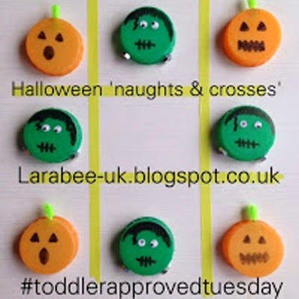 LarabeeUKCREATEhalloween naughts and crosses (tic-tac-toe - halloween activities ideas
