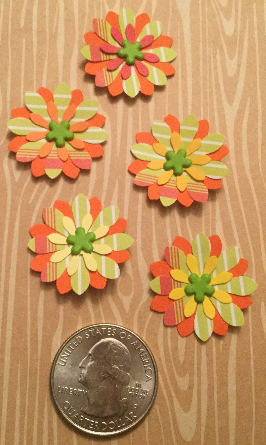 Handmade Small Paper Flowers 5 Pack By Cemfloral On Etsy Paper Flowers Cards Handmade Handmade