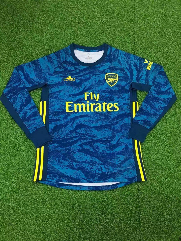19 20 Men Thai Version Arsenal Long Sleeve Goalkeeper Soccer Football Shirt Soccer Jersey Sports Shirts Football Shirts