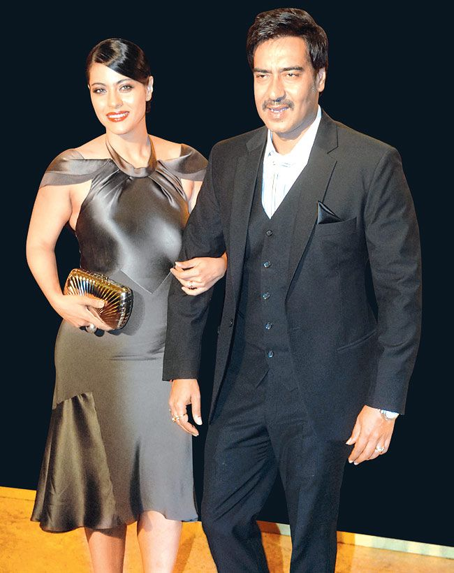 Ajay turned baby sitter when kajol
