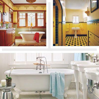 How to Create a Modern Bath in a Vintage Style Modern baths, Bath