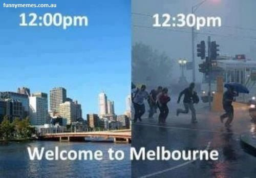 Melbourne weather meme