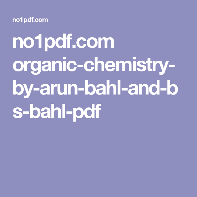 No1pdf organic chemistry by arun bahl and bs bahl pdf book pdf no1pdf organic chemistry by arun bahl and bs fandeluxe Images