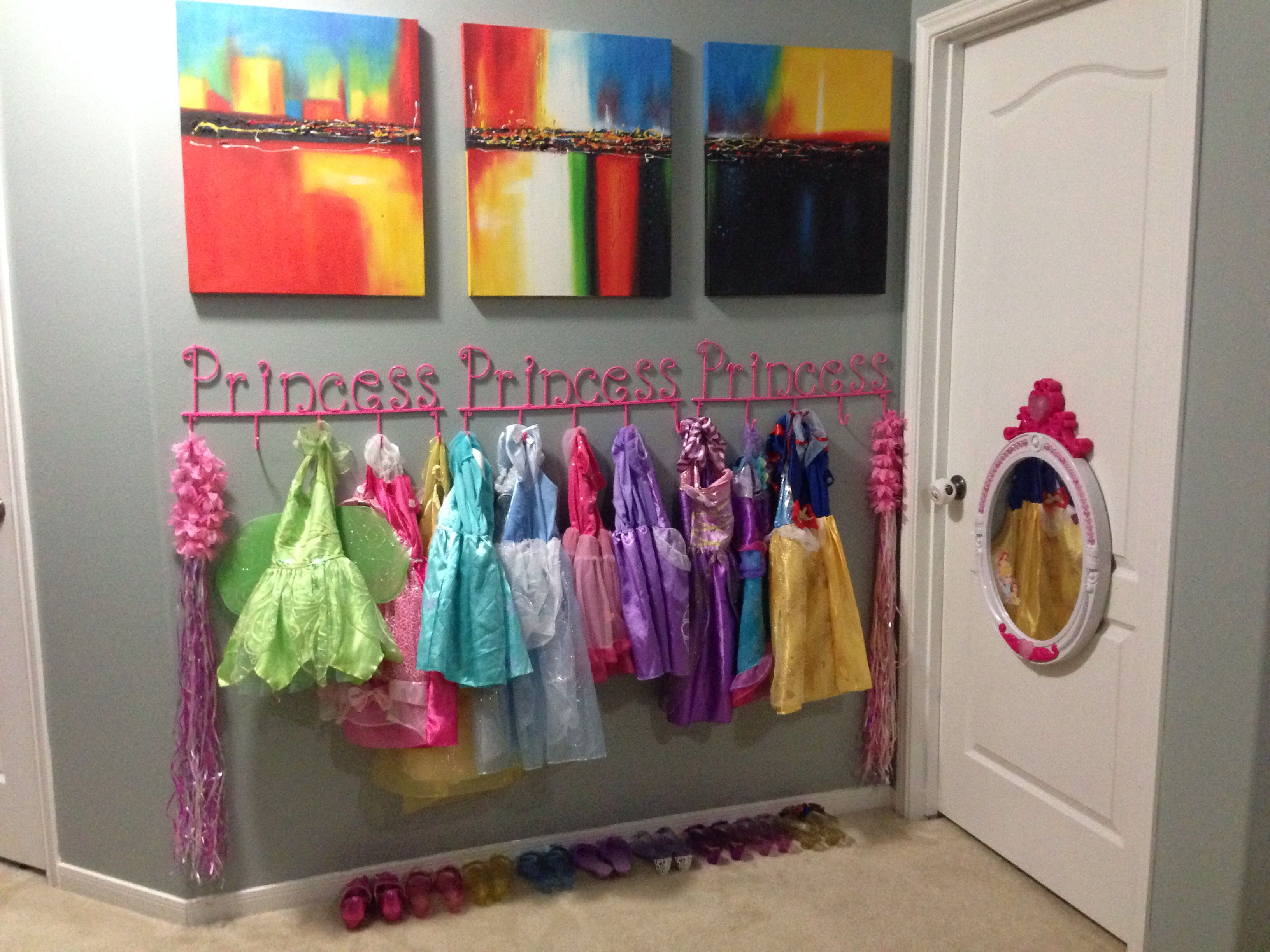 Dress Up Clothes Corner Storage Princess Hangers From