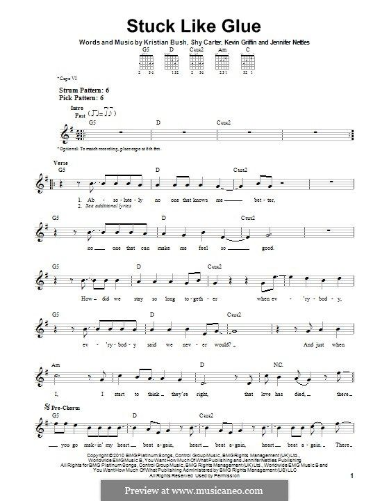 Stuck Like Glue (Sugarland): For guitar by Jennifer Nettles, Kevin ...