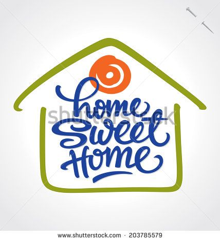 HOME SWEET HOME hand lettering -- handmade calligraphy, vector (eps8) - stock vector #download #stock #StockImages #microstock #royaltyfree #vectors #calligraphy #HandLettering #lettering #design #letterstock #silhouette #decor #printable #printables #craft #diy #card #cards #label #tag #sign #vintage #typography