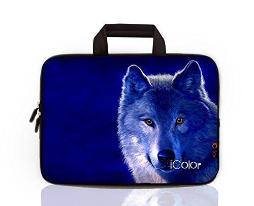 """ONLY $16.99!!!iColor Wolf Laptop Sleeve Case Briefcase  with Handle for 15"""" to 15.6"""" laptop. also have the size for 10"""" 12"""" 13.3"""" 17.3"""" laptop / Tablet in the same design. More Details in this LINK: https://www.amazon.com/dp/B016W5EBYM/ref=cm_sw_r_pi_dp_x_-qJTyb52DBW5B"""