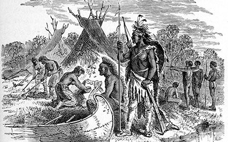 Settlers taking over the Native Americans?