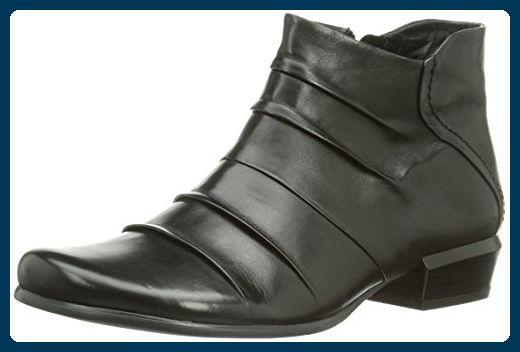 Piazza 961007, Damen Kurzschaft Stiefel, Schwarz (schwarz