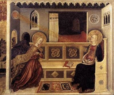 Gentile da Fabriano - Annunciazione - tempera e oro - 1423-1425 circa - Pinacoteca Vaticana.