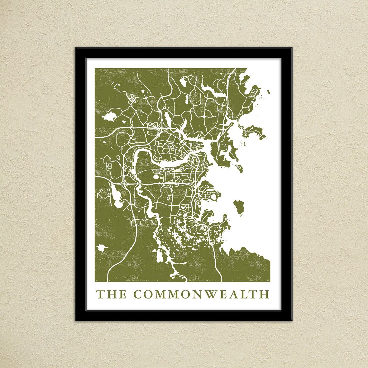 Fallout 4 the commonwealth map print gamer christmas present pidesignprints on etsy fallout 4 the commonwealth map print boston commonwealth map poster gumiabroncs Gallery