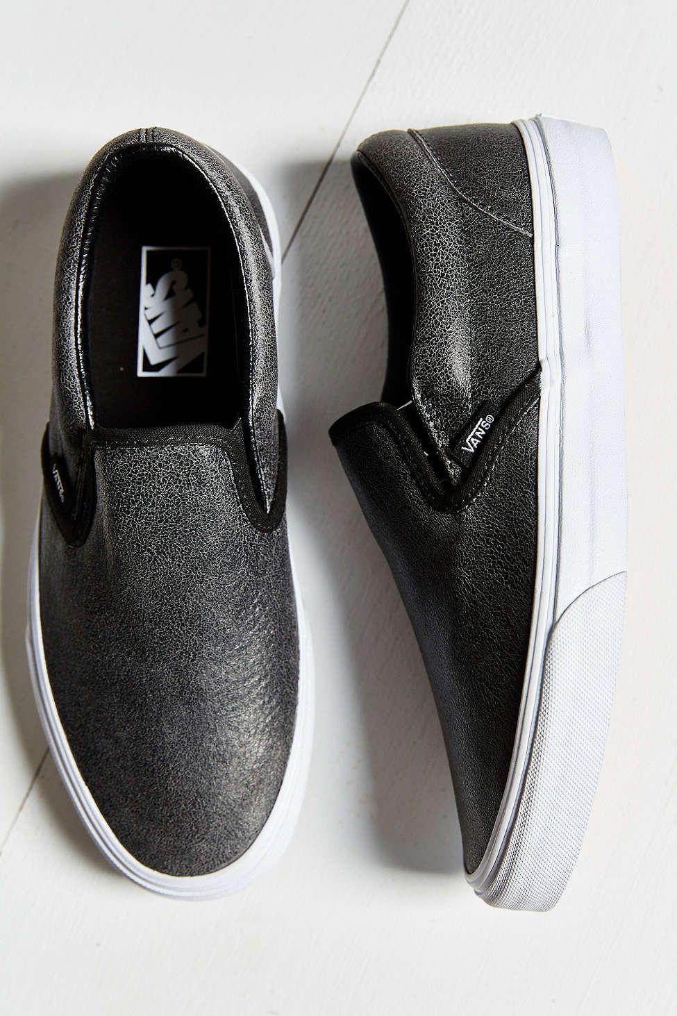 22c44985a7 Vans Cracked Leather Slip-On Shoe