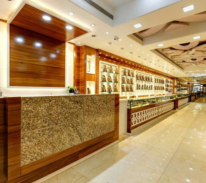 Pin by sanjay charate on jewellery shop interiors done by for Jewellery showrooms interior designs