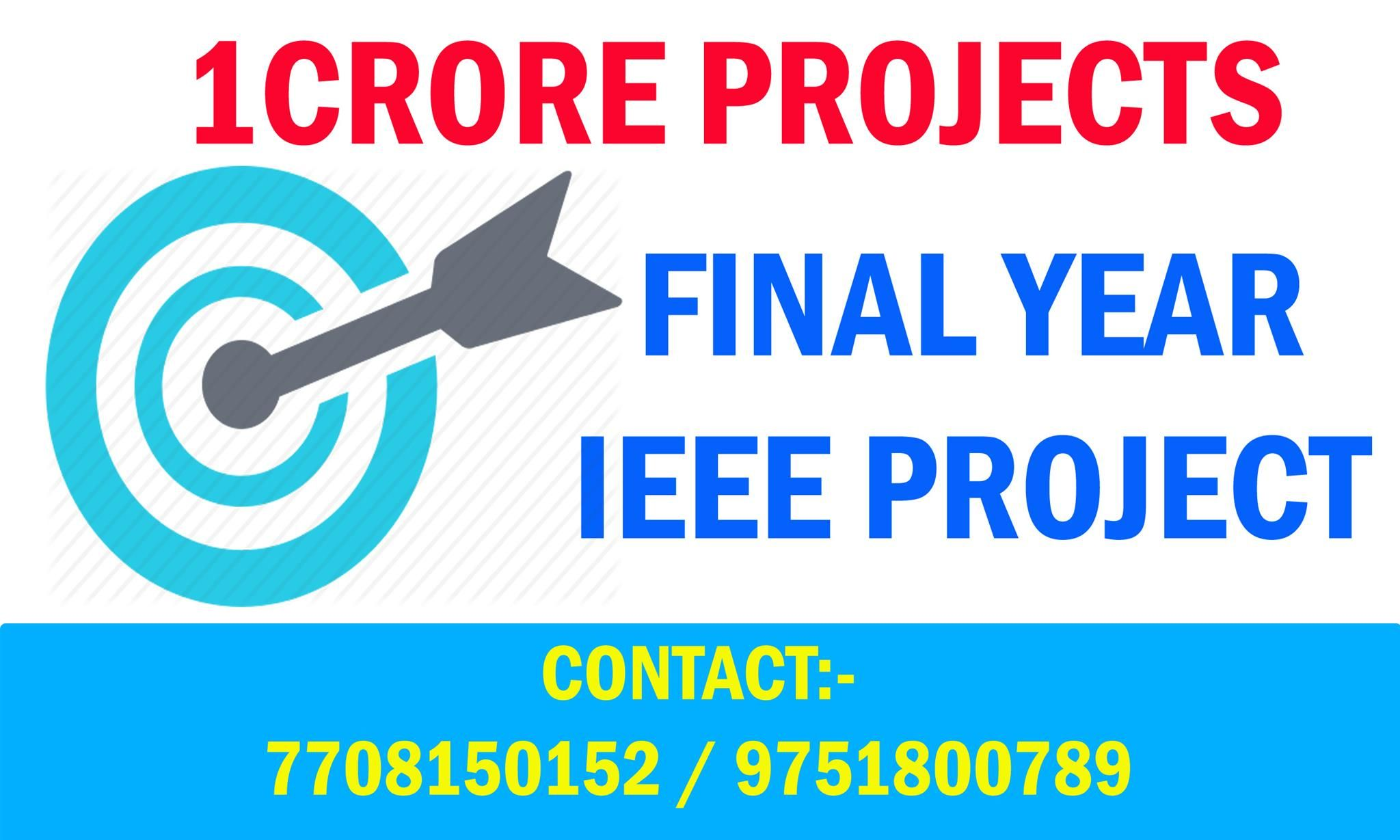 1Crore Project is the best MTech project centers in Chennai  It also