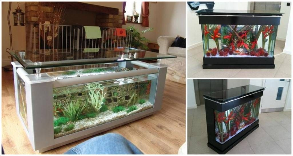 Amazing interior design fish tank tables they hold alive for Fish tank table