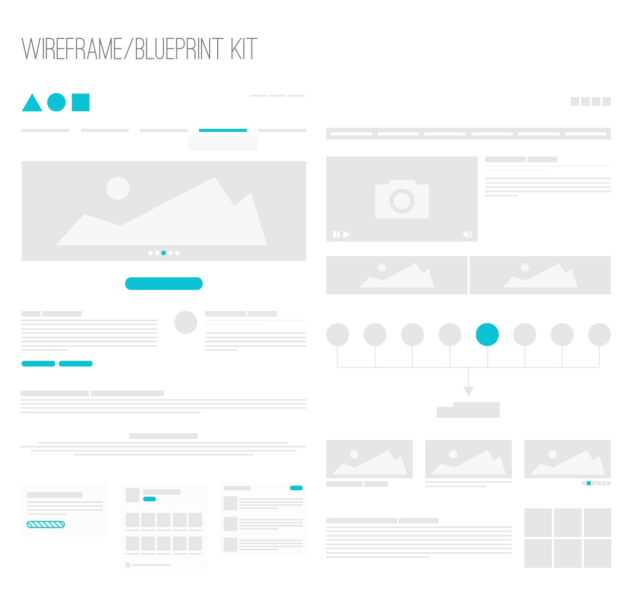 Wireframe blueprint kit knowing pinterest wireframe ui kit ux design malvernweather