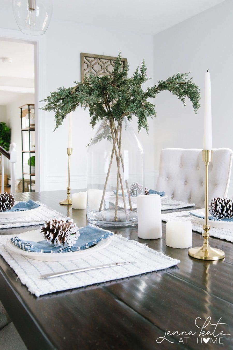 Simple Winter Table Decor Ideas Decor Winter Table Table Decorations