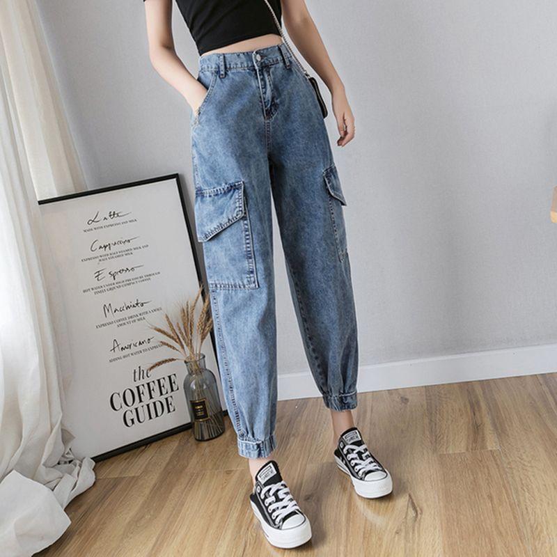 Cheap Pantalones Vaqueros Buy Directly From China Suppliers 2019 Streetwear Alta Cintura Cargo Jeans Pantalones De Moda Mujer Pantalones De Moda Jeans De Moda