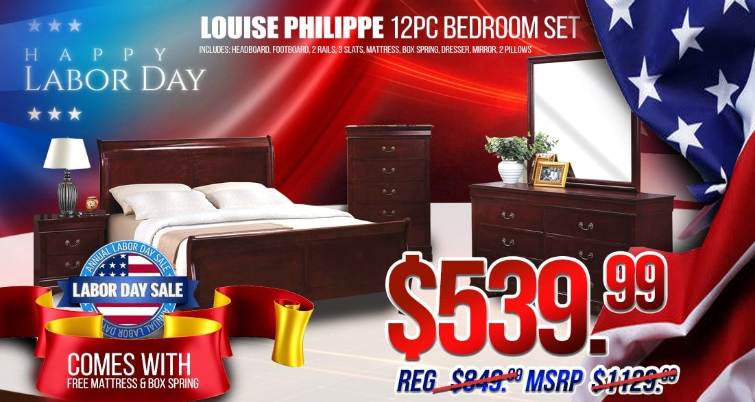 Labor Day Super Deal Get This Beautiful 12pc Complete Bedroom Set