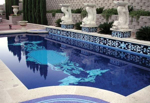 Pools mosaicist architectural mosaic miami fl for Pool design magazine