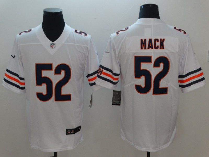 best website a802e c3323 Nike #Bears #52 Khalil #Mack White Stitched Vapor ...