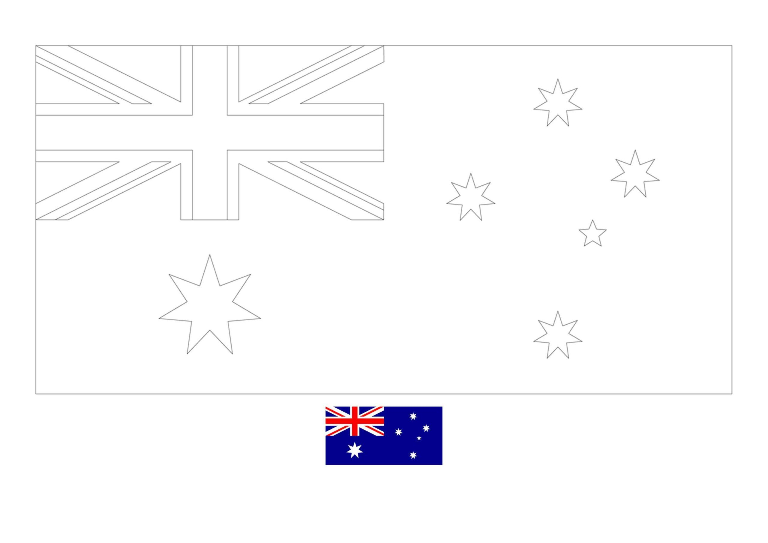 Flag Of Australia Coloring Page Free Coloring Sheets Coloring1 Com In 2020 Flag Coloring Pages Coloring Pages Free Coloring Sheets
