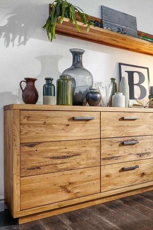 Massivholzmöbel sideboard modern  Rustikal und modern zugleich: Das Sideboard Natura Nebraska von ...