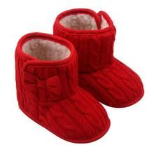 283e5f292120 Baby Girls Shoes Bowknot Soft Sole Winter Warm Shoes Boots - Star Kidz  Clothing
