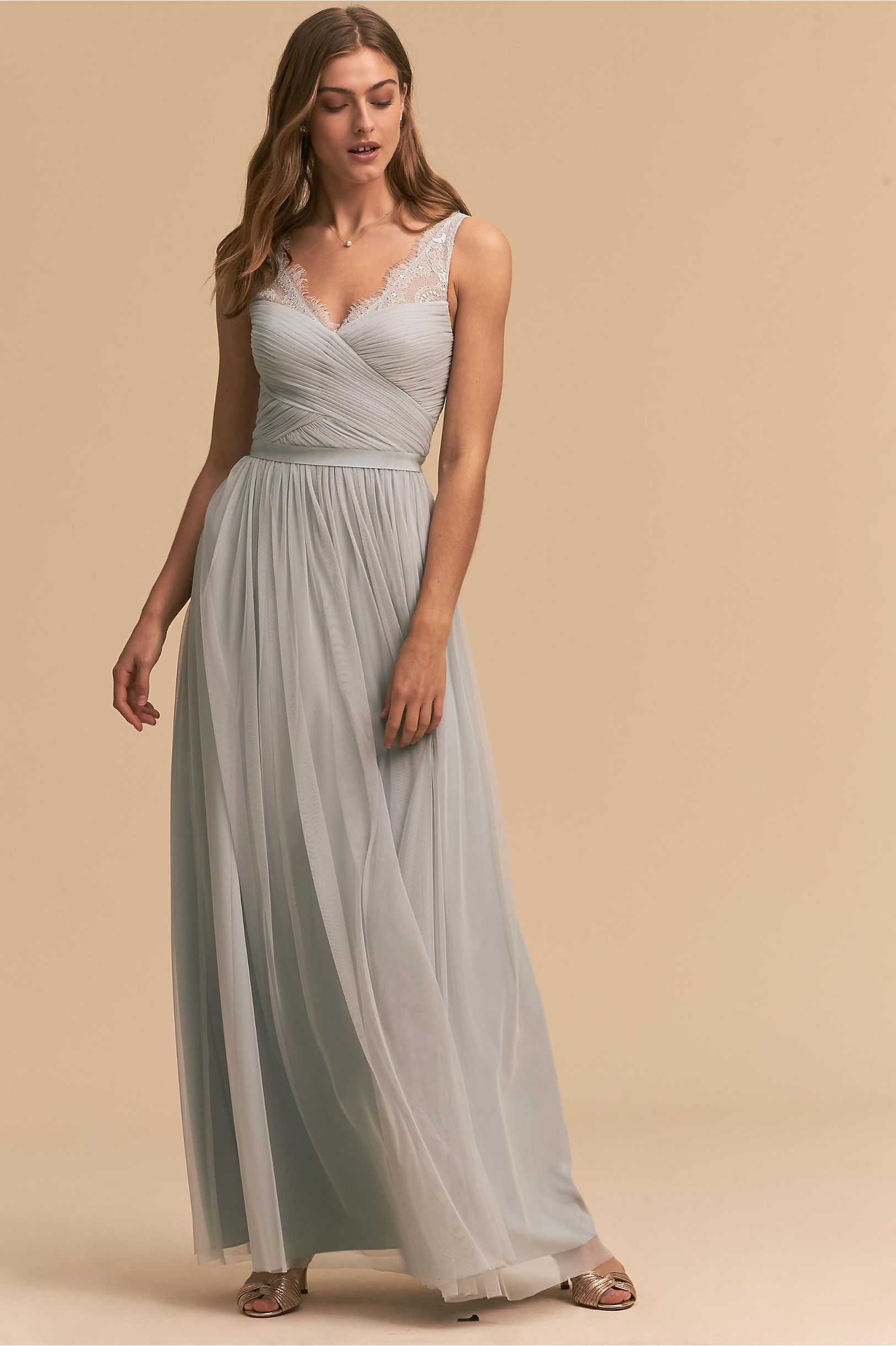 b2a40ff943 BHLDN Fleur Dress Fog in Bridal Party