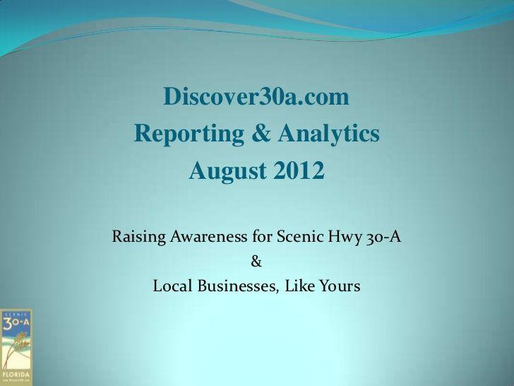 Advertising Report for Discover30a.com
