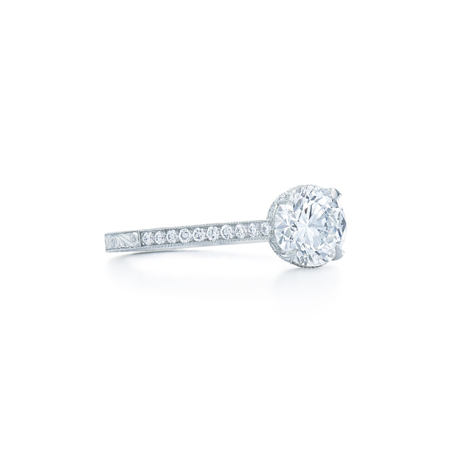 Round brilliant diamond engagement ring round brilliant diamond