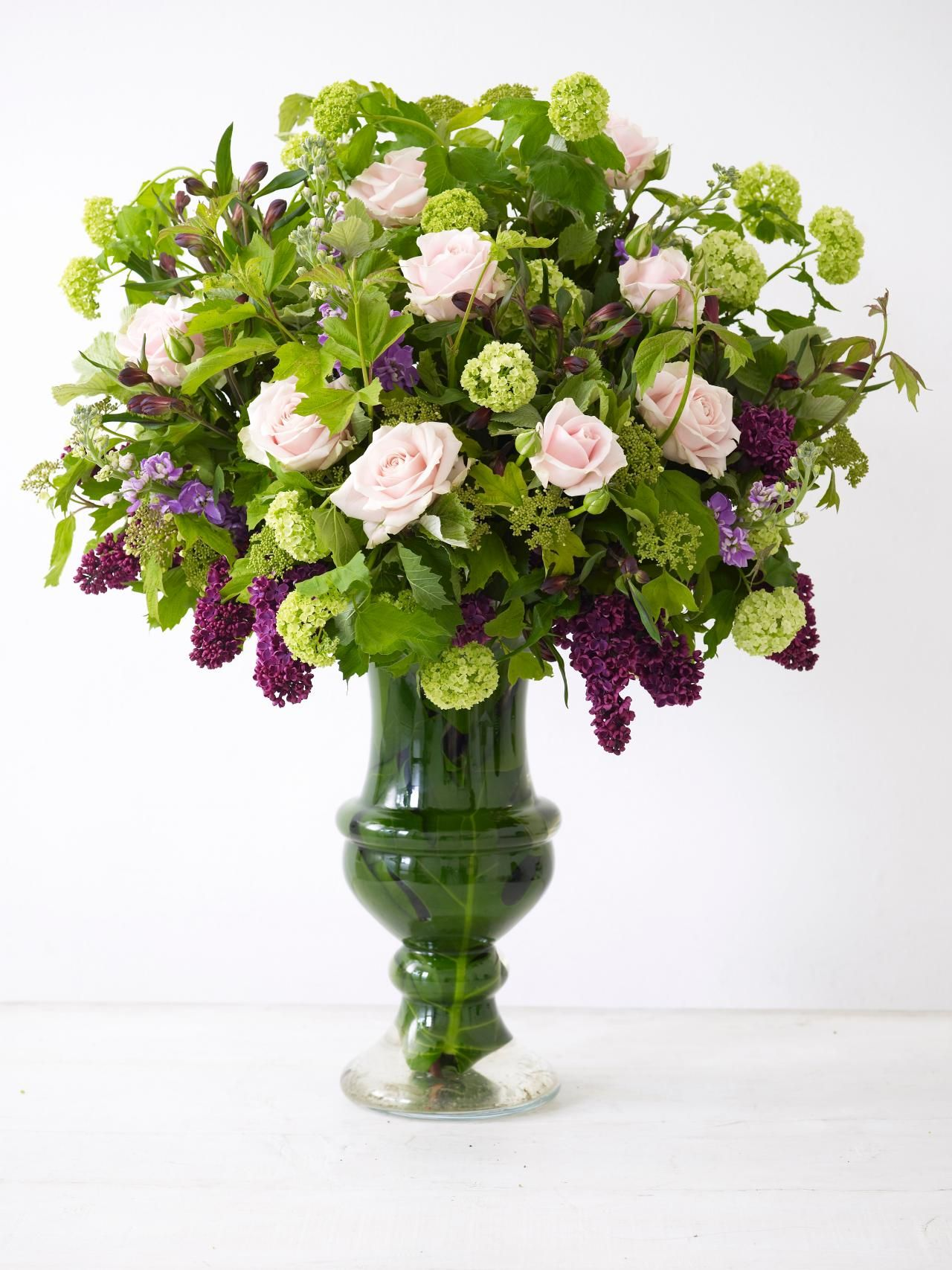 Classic Beauty A Rose And Lilac Vase
