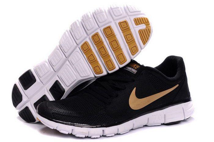 7743265e8e60 Online Nike Free 7.0 V2 Men Gold Black White Running Shoes