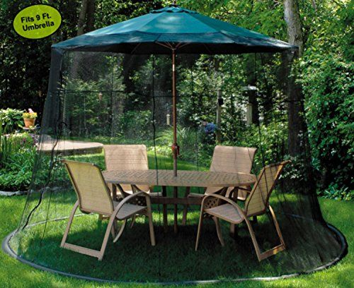Mesh Mosquito Net Enclosure Fits over a 9 Patio Umbrella *** Click image for & Mesh Mosquito Net Enclosure Fits over a 9 Patio Umbrella *** Click ...
