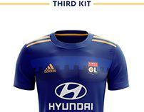 c3b004f91 Olympique Lyonnais Football Kit 18 19.