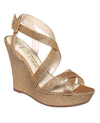 Image Result For Gold Wedges Heels