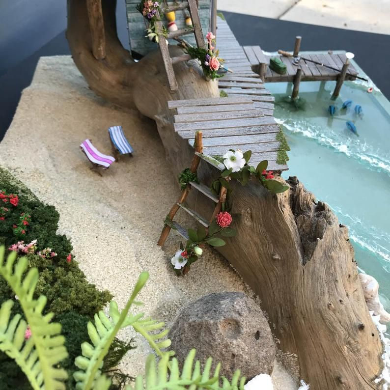 Fairy Beach House Etsy In 2020 Fairy House Crafts Beach House Fairy House