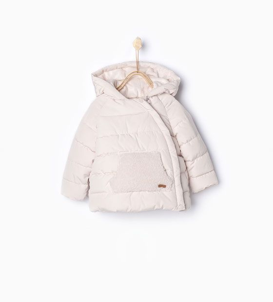 1 Month-3 Years La Redoute Collections Big Girls Velours Padded Jacket