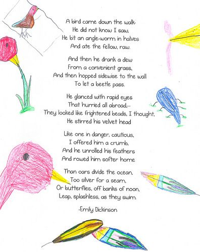 poem free bird Valentine's day limerick poem including poster and coloring page for children.