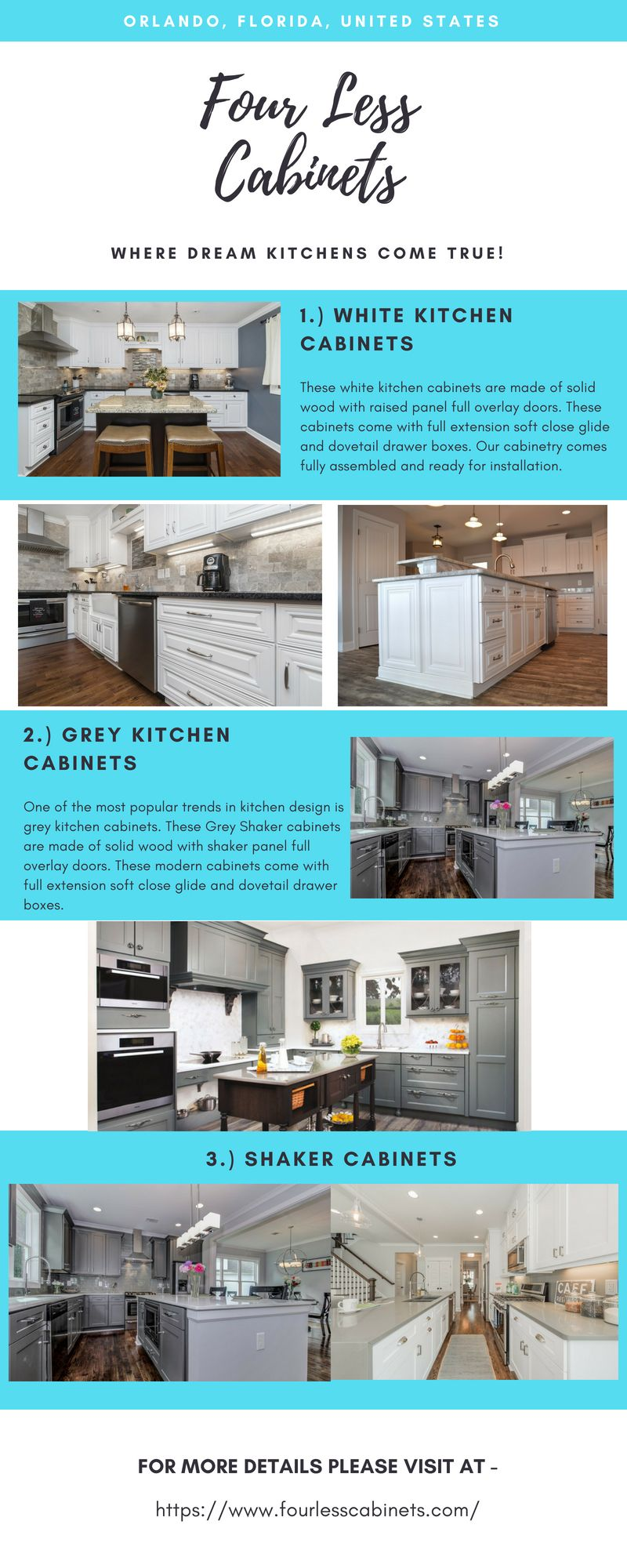 White Shaker Kitchen Cabinets Four Less