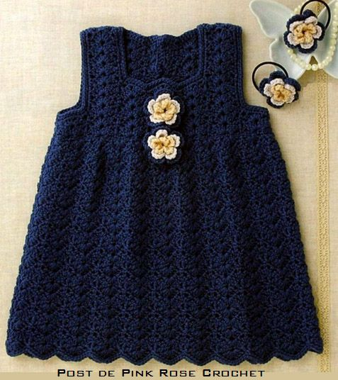 Crochet dress, free chart pattern would look sweet for fall or winter with turtleneck underneath