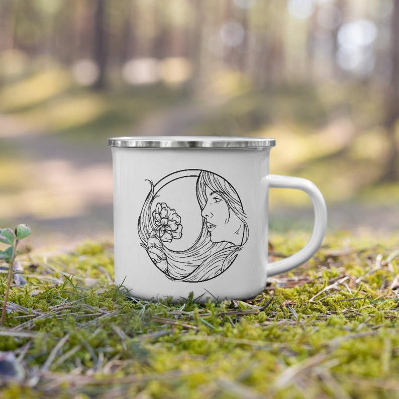 Virgo Zodiac Sign Enamel Mug | Etsy