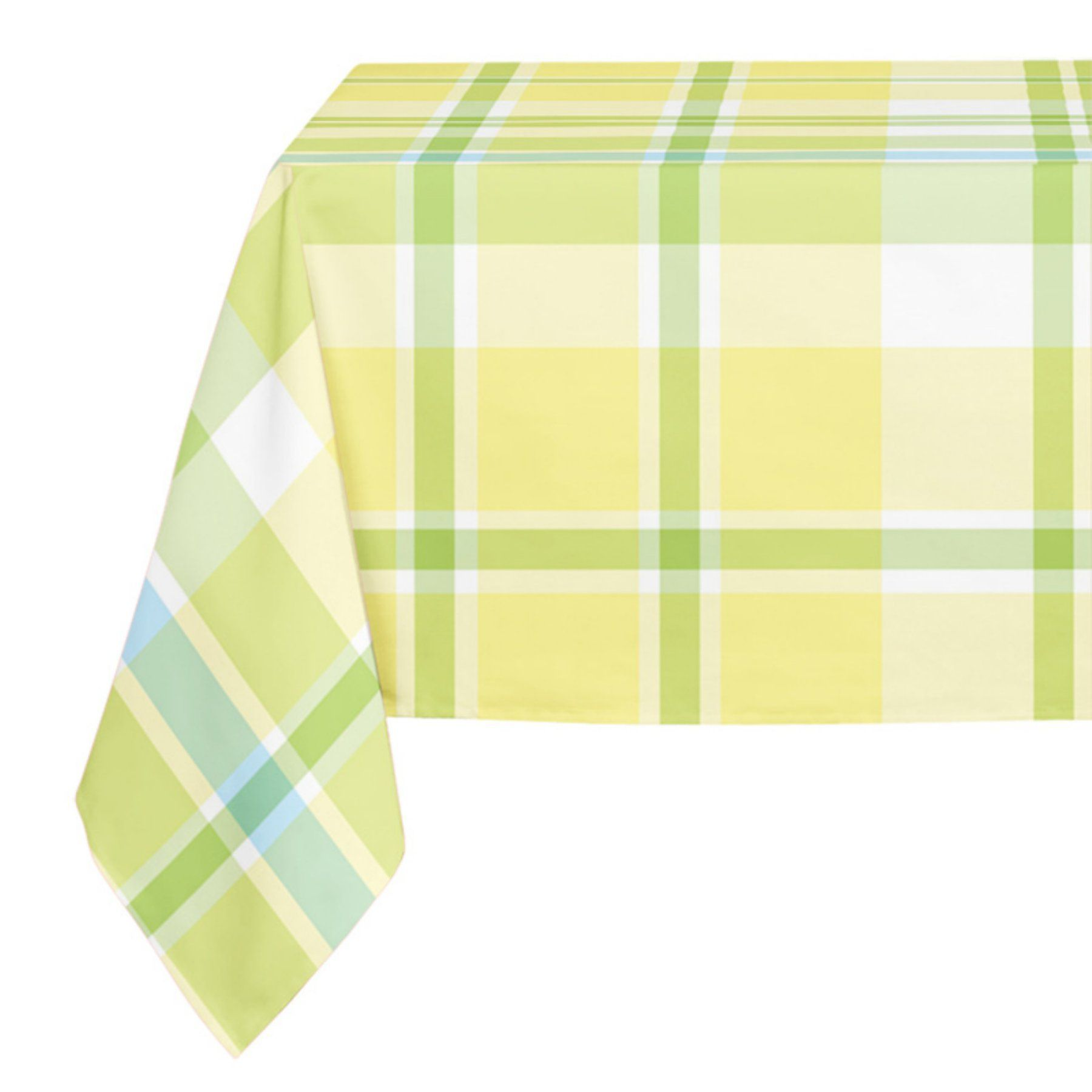 Lovely Kavka Designs Yellow And Green Plaid Tablecloth   TBC SPLLT 70X90 NOR425