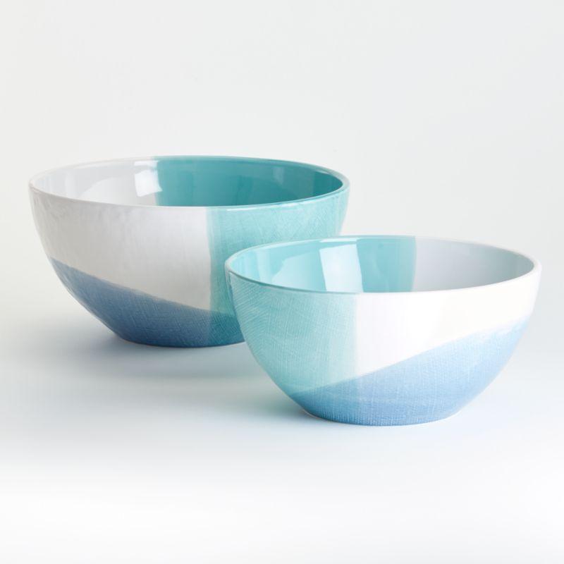 Maci Mixing Bowls Crate And Barrel In 2020 Ceramic Mixing Bowls Bowl Plastic Crates