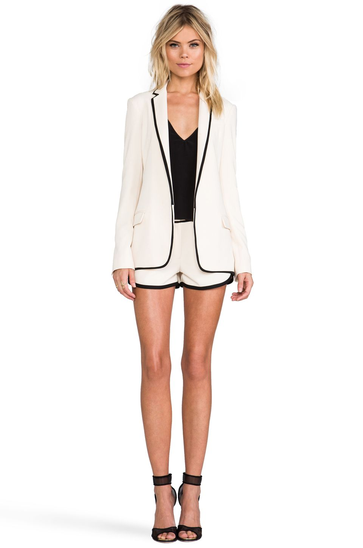 Diane von Furstenberg Bridgett Jacket in Ecru/Black   Wardrobe ...