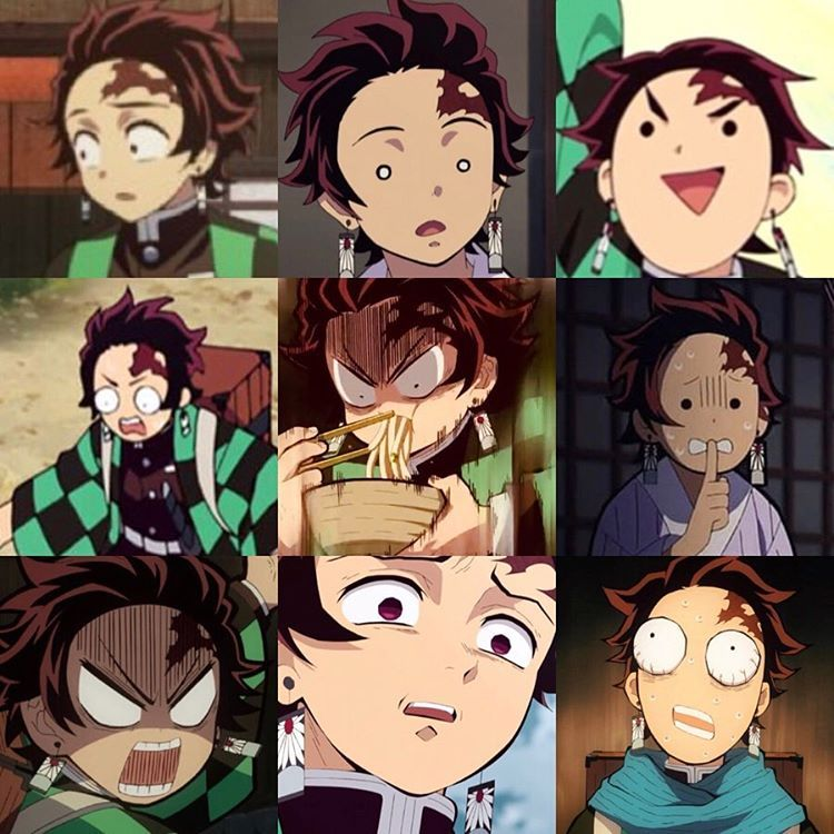Since the Zenitsu faces post did good, I'm doing a Tanjiro